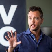 Mathias Ruch, Chef der Zuger Blockchain-Beteiligungsgesellschaft CV VC. (Bild: Alexandra Wey/Keystone, Zug, 20. September 2018)