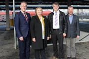 Sie wollen die BDP Thurgau vorwärts bringen: Roland A. Huber, Karin Peter, Jürg Schumacher und Andreas Guhl. (Bild: Manuela Olgiati)