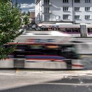 1er-Busse, fotografiert beim Maihof in Luzern. Das Bild entstand am Montag, 30. September 2019.Bild: (Pius Amrein / LZ)ÖV, öffentlicher Verkehr, Bus, Trolleybus, 1er