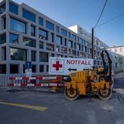 Die Baustelle rund um das Basler Universitätsspital im Rahmen der Sanierung und Erweiterung des Operationstraktes Ost. (Georgios Kefalas/Keystone, 22. November 2018)