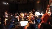 Das Jugendorchester Il Mosaico steht unter der Leitung von Hermann Ostendarp. Barbara Bucher war die Erzählerin. (Bild: Cecilia Hess-Lombriser)
