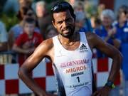 Abraham Tadesse, Sieger des 21. Ägeriseelaufs. (Bild: Stefan Kaiser, Oberägeri, 19. Juli 2019)