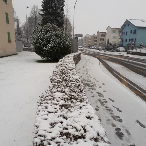 Der Schnee ist da! (Bild: Heinrich Inderbitzin (Emmen, 6. Januar 2019))
