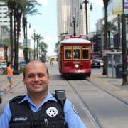 Urs Brechbühler (35) arbeitet heute als Polizist in New Orleans. (Bild: PD)