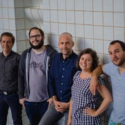 Das Luzerner Organisationskomitee: Mario Stübi, Remo Rickenbacher, Urs Emmenegger, Lisa Brunner und Valerio Moser (von links). (Bild: PD/Pierre Lippuner)