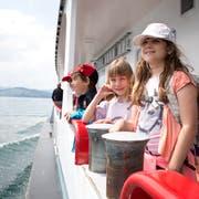 Schüler auf der Schulreise von Weggis nach Luzern (Bild: Manuela Jans-Koch)