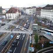 Blick auf den Kasernenplatz. (Bild: Manuela Jans-Koch (Luzern, 20. Dezember 2015))
