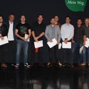 Die Absolventen des Lehrgangs Bauleiter Hochbau. (Bild: PD)