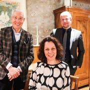 Der Turf Club Frauenfeld blickt zuversichtlich in die Zukunft: Präsident Heinz Belz mit dem neuen Vorstandsmitglied Ibi Bertschi und Protokollführer Marcel Brun. (Bild: Christine Luley)