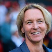 Holt Martina Voss-Tecklenburg mit der deutschen Nationalmannschaft WM-Gold? (Bild: David Vincent/AP Photo, Rennes, 8. Juni 2019)