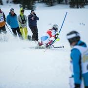 Europacup-Slalom der Frauen - im Bild Aline Danioth - auf Melchsee Frutt. (Bild: Manuela Jans, 25. Januar 2018)