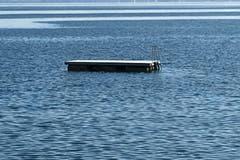 Das äussere Floss im Seebad Horn: Oase der Ruhe. (Bild: Daniel Wirth)