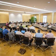 Blick in die Sitzung des Kreuzlinger Gemeinderates Kreuzlingen. (Bild: Reto Martin)