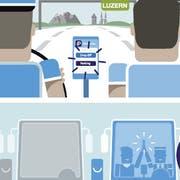 Die neue App heisst «iParkiere Bus». Im Bild ein Erklärungs-Comic der Stadt. (Bild: PD)