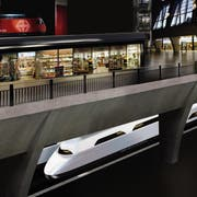 Blick in die ferne Zukunft: So könnte der Luzerner Durchgangsbahnhof dereinst aussehen. (Visualisierung: PD)