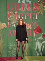 Grüne Pionierin: Stella McCartney wurde diese Woche an den Green Carpet Fashion Awards für ihr Engagement mit dem Groundbreaking Award ausgezeichnet. Sie trägt ein zu 100 Prozent nachhaltiges Viskosekleid. Bild: Getty Images