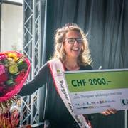 Melanie Maurer als sie an der Wega 2018 zur Thurgauer Apfelkönigin gewählt wurde. (Bild: Andrea Stalder)