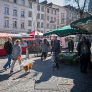 Auf dem St.Galler Wochenmarkt. (Bild: Benjamin Manser - 23. März 2019)