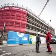 Die Thurgauer Gebäudeversicherung zieht in den vierten Stock des Neubaus beim Autobahnanschluss Frauenfeld Ost. (Bild: Andrea Stalder)