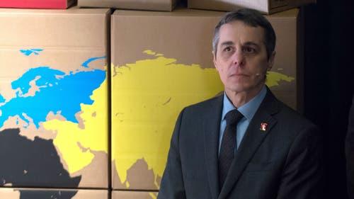 Aussenminister Ignazio Cassis bringt es auf 126 Flugstunden. (KEYSTONE/Ti-Press/Pablo Gianinazzi)