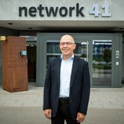 Pius Krummenacher, Verwaltungsratspräsident von Network 41, am Hauptsitz in Sursee. (Bild: Roger Grütter, 12. Juni 2018)