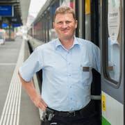 Andreas Lutz ist Zugbegleiter aus Leidenschaft. (Bild: Urs Bucher)
