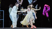 """""""Geschichten aus dem Wiener Wald"""": Marianne (Anna Blumer) glaubt, in Alfred (Fabian Müller) ihre grosse Liebe gefunden zu haben. (Bild: Toni Suter/T+T Fotografie)"""