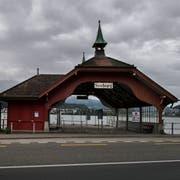 Die denkmalgeschützte Schiffsstation Seeburg ist derzeit gesperrt. (Bild: Eveline Beerkircher, Luzern, 2. Oktober 2019)