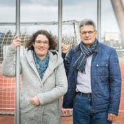 Schulpräsidentin Martina Erni und Gemeinderat Paul Sauter. (Bild: Andrea Stalder)