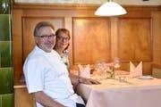 Werner und Beatrice Hollenstein haben das Restaurant Bären in Mosnang während rund 30 Jahren geführt. (Bild: Timon Kobelt)