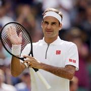 Roger Federer steht in den Wimbledon-Achtelfinals. (Bild: Keystone)