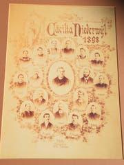 Die Mitglieder des Kirchenchors im Jahr 1898.