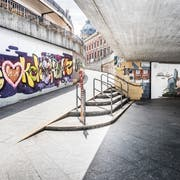 Unterführung zur Marktstätte: «Wir lieben Konstanz.» (Bilder: Andrea Stalder)