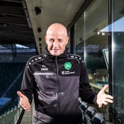 Der 56-jährige Deutsche Peter Zeidler ist seit einem halben Jahr Trainer des FC St. Gallen. Er besitzt einen Vertrag bis 2021. (Bild: Mareycke Frehner)