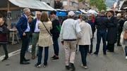Auf der Flawiler Bahnhofstrasse trafen sich am Samstag Lokalpolitiker, Kantonspolitiker und solche, die künftig Bundespolitik machen möchten.