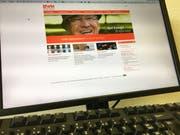 Die Webseite des EWN. (Bild: PD)
