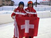 Björn und Pascal Schönenberger (von links) sind mit ihren Kollegen gestern in die Schweiz zurückgekehrt. (Bild: PD)