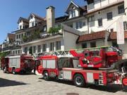 Zwei Feuerwehrautos im Einsatz. (Bild: Noemi Heule - 19. Juni 2019)