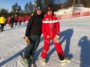 Die Zeit hat gereicht, um mit Stefan Hofmänner (links), Kommentator beim Schweizer Fernsehen, ein Foto zu machen. (Bild: PD)