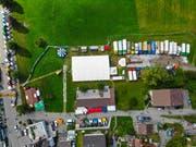 Luftaufnahme von der letztjährigen «Trucker Chilbi». (Bild: PD)