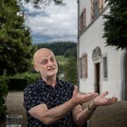 Uli Sigg beim Interview an seinem Wohnsitz auf Schloss Mauensee. (Bild: Pius Amrein, Mauensee, 6. Juni 2018)