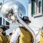 Der Musikverein Weinfelden am Kantonal-Musikfest in Kradol. Bild: Andrea Stalder
