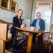Das Museum Vinorama in Ermatingen steht unter neuer Leitung. Stiftungspräsidentin Nathalie Leu und Kurator Christoph Ullmann stellen ein neues Kulturprogramm auf die Beine. (Bild: Andrea Stalder)