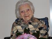 Berta Eberle aus Frauenfeld feiert ihren 100. Geburtstag. (Bild: Hugo Berger)
