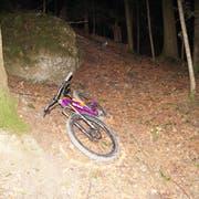 Das Bike des verunfallten Mannes. (Bild: Zuger Polizei)