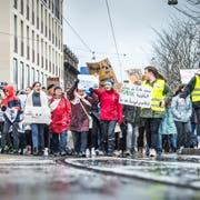 Klimastreik im März in Frauenfeld. (Bild: Andrea Stalder)
