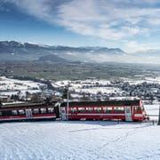 Die Altstätten-Gais-Bahn könnte dank besserer Anschlüsse auch für Pendler nach St.Gallen attraktiv werden, glaubt die CVP Rheintal. (Bild: Michel Canonica)