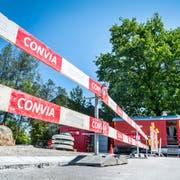 Die Convia AG saniert die General-Weber-Strasse in Frauenfeld. (Bild: Andrea Stalder)