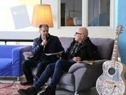 Efisio Prasciolu im Gespräch mit Dani Fels. (Bild: Jolanda Riedener)