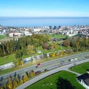 Dank einem dritten Autobahnanschluss und einer Kantonsstrasse zum See soll die Region Rorschach besser erschlossen werden. (Bild: PD)